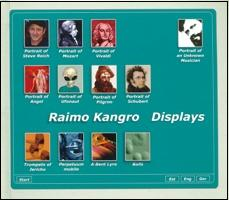 CD Raimo Kangro. Displays