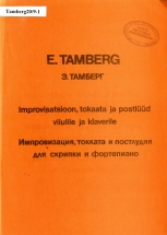 Eino Tamberg. Improvisation, Toccata and Postlude for Violin and Piano